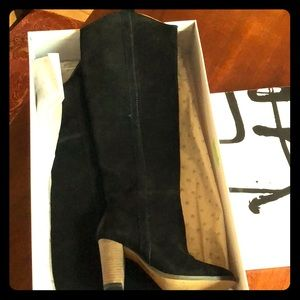 Dolce Vita Myste black suede boots